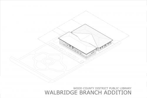 Drawing, exterior, Walbridge Renovation