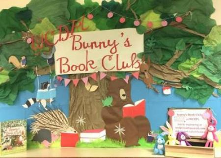 Bunny's Book Club display