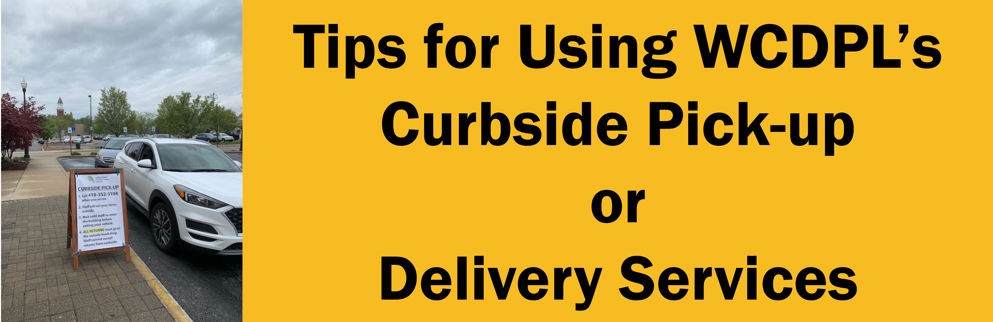 Link to Curbside Pickup and Delivery services tips